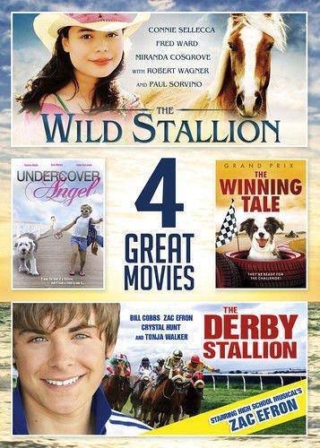4movie DVD Wild Stallion,Undercover Angel,Winning Tale,Derby Stallion Zac EFRON