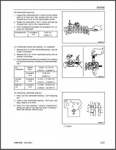 Kioti DK45 DK50 Tractor Repair Service Workshop Manual CD -- DK 45 50