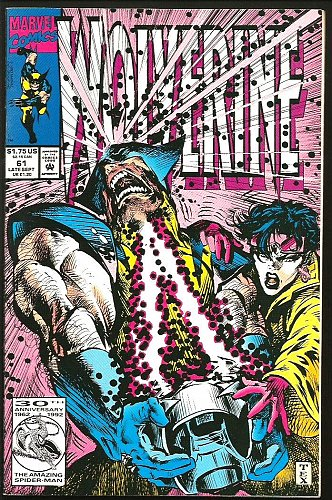 WOLVERINE #61 VF/NM- High Grade 1st print Marvel Comics 1991