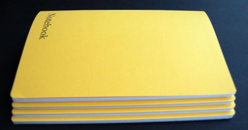 """4 x A5 SCHOOL EXERCISE BOOKS (80 plain pages) """"top quality books"""" Made in UK..."""