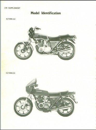 1978-1979-1980 Kawasaki KZ1000 ( Z1000 ) Service Manual on a CD --- KZ 1000