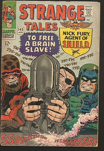 Strange Tales #143 Doctor Strange by DITKO, SHIELD by Jack Kirby 1966 MARVEL VG+