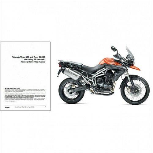 2010 2011 2012 2013 Triumph Tiger 800 / 800XC Service Repair Manual on a CD