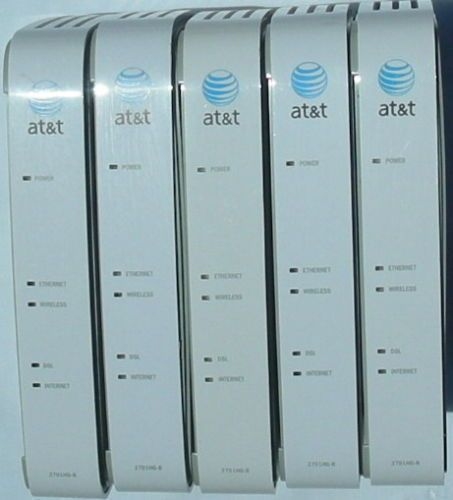 x5 - AT T 2WIRE 2701HG B Gateway WIRELESS modem ROUTER DSL WiFi ethernet 4port