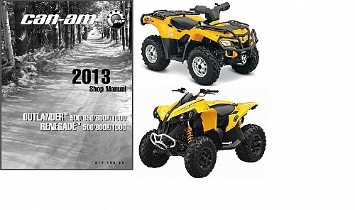 2013 Can-Am Outlander / Renegate 500 650 800R 1000 Service Manual on a CD