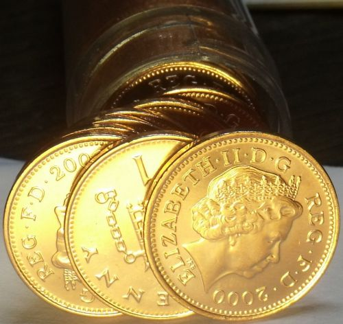 Great Britain 2000 Penny's Unc Roll Of 50