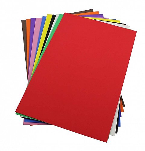 Craft Foam Sheets--12 x 18 Inches -Asst. Colors Set 1 - 10 Sheets-2 MM Thick