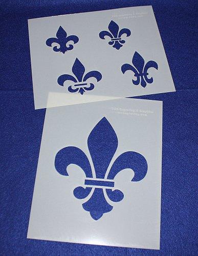 2 -Mylar 14 Mil Fleur-De-Lis Stencils Painting/Crafts/Stencil/Template