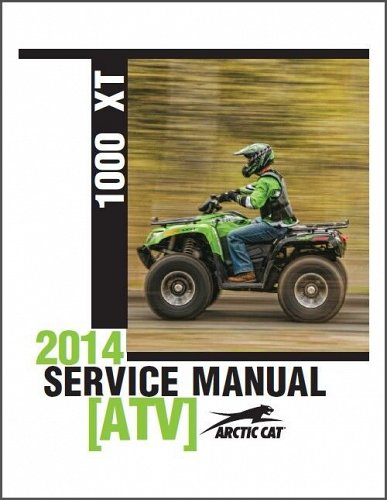 2014 Arctic Cat 1000 XT ATV Service Manual on a CD