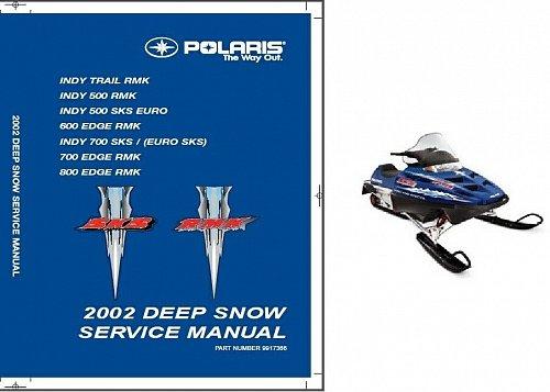 2002 Polaris Deep Snow Indy RMK SKS Edge Snowmobiles Service Repair Manual CD