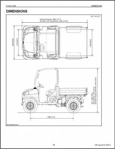 Kubota RTV900 UTV WSM Service Manual on a CD - RTV 900