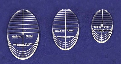"3 Piece Quilt Ovals Templates 1/4 "" -4"", 5"" ,6"" -Multi Purpose"