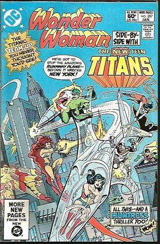 WONDER WOMAN #287 Teen Titans VF+ 1982 DC Comics Wolfman Heck Tanghal