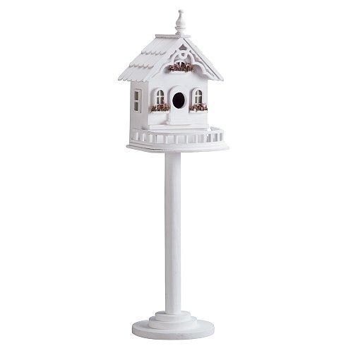 34320U - Freestanding Victorian Decorative Wood Birdhouse