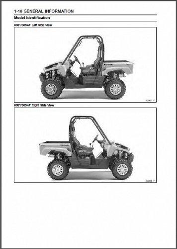 2010-2011-2012-2013 Kawasaki Teryx 750 FI 4X4 LE Sport UTV Service Manual CD