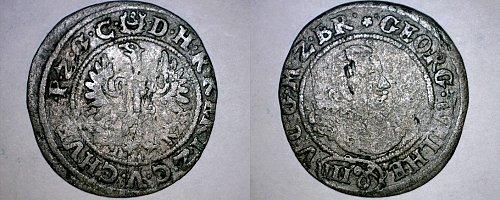 1623 German States Brandenburg 3 Groschen World Silver Coin