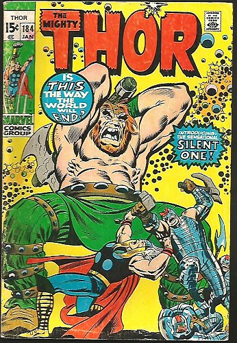 THOR #184 1st Infinity Comics 1971 Stan Lee Buscema Intro Mysterious Silent One