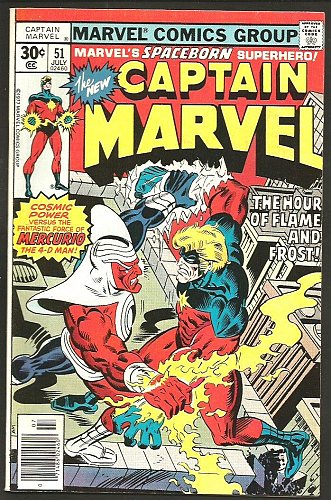 Captain Marvel #51 FINE/VF- 1977 GUARDIANS OF THE GALAXY Terry Austin AVENGERS