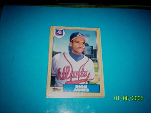 1987 Topps Traded Baseball CARD OF DION JAMES BRAVES #T54 MINT