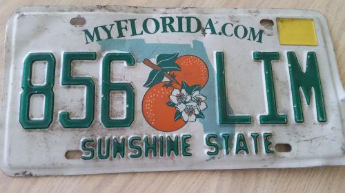 Florida FL Auto Car Truck License Plate Tag# 856 LIM (405)
