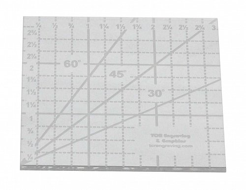 """Ruler- 3"""" Square -Acrylic 1/8"""" thick. Quilting/Sewing/Template"""