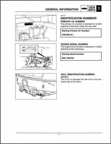 Yamaha LS2000 Jet Boat Service Manual on a CD