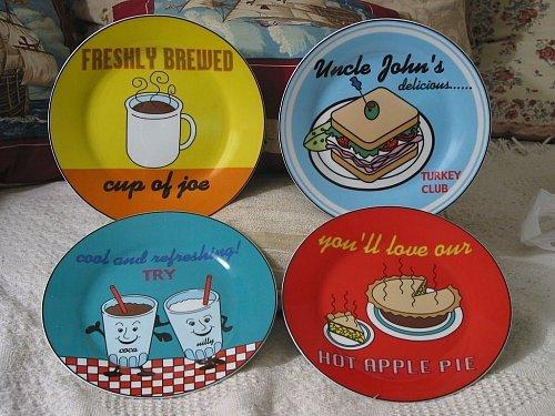 GODINGER 4 Decorative Porcelain Food Drink Plate AJS