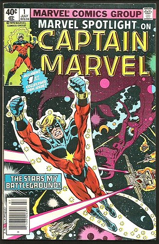Marvel Spotlight on Captain Marvel #1 Moench1979 VF Guardians of the Galaxy