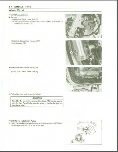 1992-1993 Kawasaki Zephyr 1100 / ZR1100 Service Manual on a CD