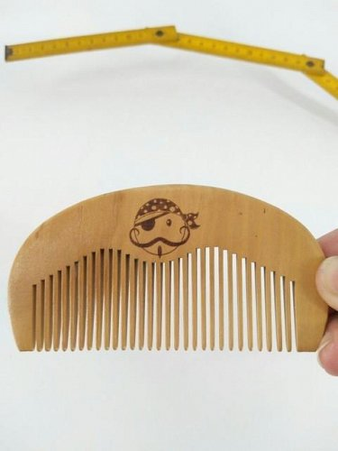 Wooden Beard and Mustache Comb All Natural Wood Men's Facial Hair