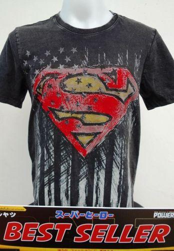 Superman Black Cotton T-Shirt Super Hero Dccomics,Warner Bros. A001