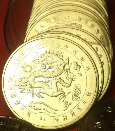Gem Unc Roll (20) Liberia 2000 Dollars~Chinese Dragon~Free Shipping