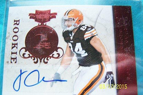 Jordan Cameron 2011 Cleveland Browns Autographed Rookie Card