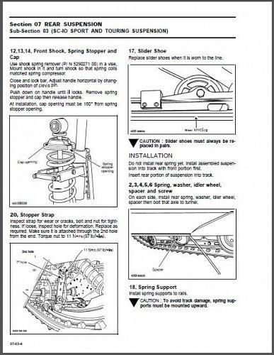 1996 Ski-Doo Elan Tundra Touring Formula Scandic Service Manual on a CD