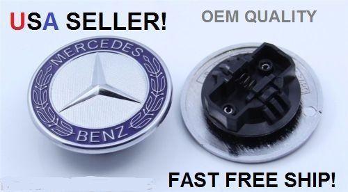 New Mercedes Benz FLAT HOOD OEM EMBLEM car badge GENUINE HIGH QUALITY