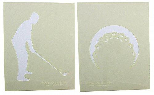 2 Piece Set - Golf Stencils Mylar 14 Mil Painting/Crafts/Stencil/Template