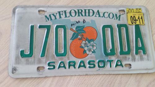 2011 Florida FL Auto Car Truck License Plate Tag# J70 QDA (405)