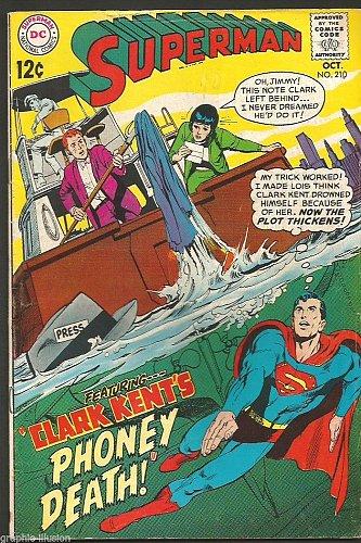 Superman #210 DC COMICS 1970 --1st print Fine- range