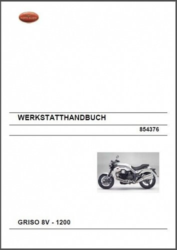 Moto Guzzi Griso 8V 1200 Service Manual on a CD - in English and German