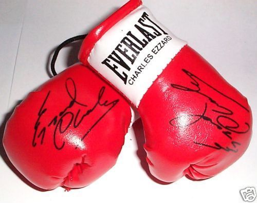 Autographed Mini Boxing Gloves Charles Ezzard