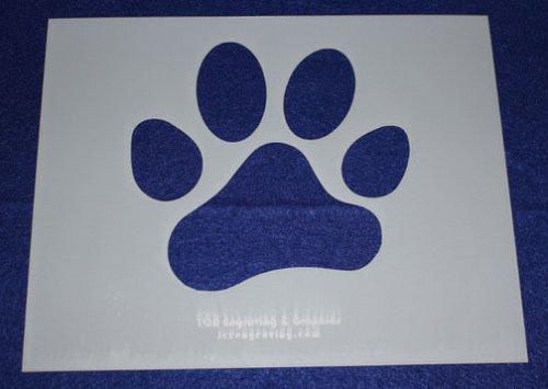 4 Pc Set -Mylar 14 Mil Dog Bone Paw Print LG Stencils Painting/Crafts/Stencil