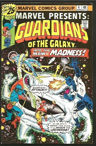 Marvel Presents #4 GUARDIANS OF THE GALAXY Milgrom 1976