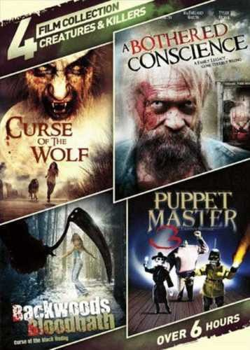 4movie color DVD Curse of the Wolf,A Bothered Conscience,Angela LOWE Jesse CYA