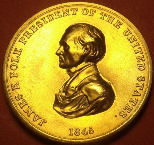 Gem Unc James K. Polk Presidential Bronze Inauguration Medallion~Free Shipping
