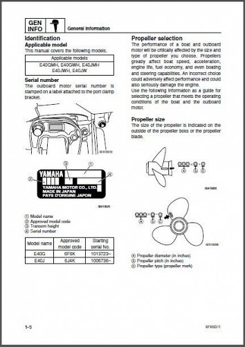 Yamaha E40 Enduro 40 2-Stroke Outboards Service Repair Manual CD - E40G E40J