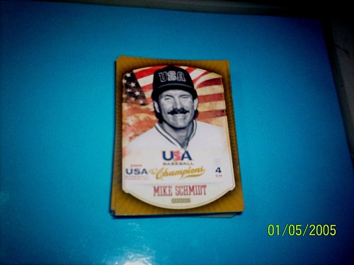MIKE SCHMIDT #34 2013 Panini USA Champions Gold Boarder Card FREE SHIP
