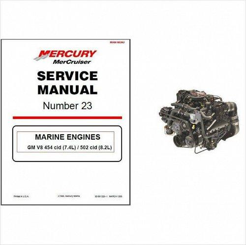 98-01 MerCruiser #23 GM V8 454 cid 7.4L / 502 cid 8.2L Service Repair Manual CD