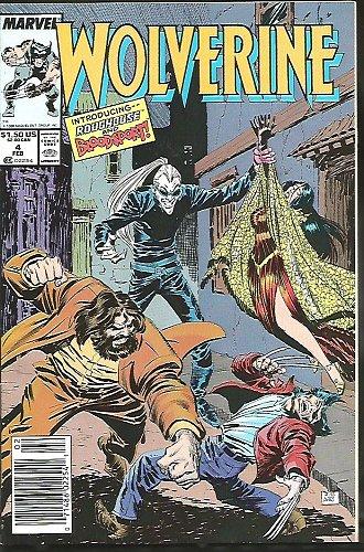 Wolverine #4 VF/NM- Marvel Comics 1989 BWS Back Cover Bloodsport