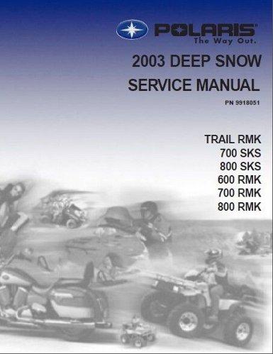 2003 Polaris Trail RMK , SKS 600 700 800 Snowmobiles Service Repair Manual CD