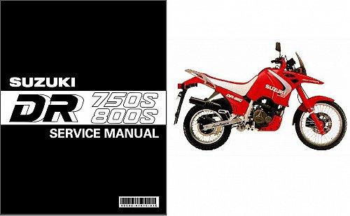88-97 Suzuki DR750 DR800 Big Service Repair Manual CD - DR 750S 800S 750 800 S